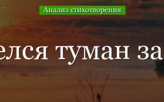 Анализ стихотворения Забелелся туман за рекой Сологуба
