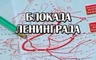 Блокада Ленинграда – сообщение доклад