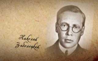 Анализ стихотворения Признание Заболоцкого