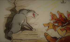 Басня Крылова Волк на псарне