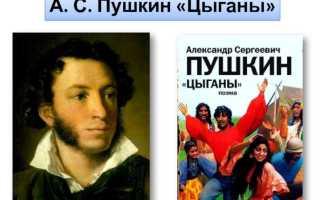 История создания поэмы Цыганы Пушкина