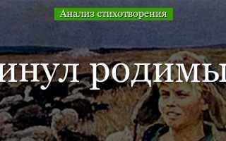 Анализ стихотворения Устал я жить в родном краю Есенина