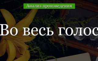 Во весь голос – краткое содержание поэмы Маяковского