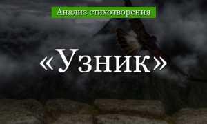 Анализ стихотворения Пушкина Узник 6 класс