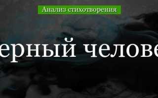 Анализ стихотворения Черный человек Есенина