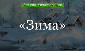 Анализ стихотворения Зима Апухтина