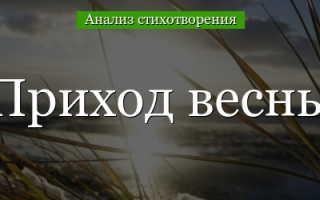 Анализ стихотворения Жуковского Приход весны 7 класс сочинение