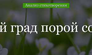 Анализ стихотворения Баратынского Чудный град порой сольётся
