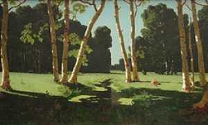 Сочинение по картине Куинджи Березовая роща (описание)