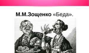 Беда – краткое содержание рассказа Зощенко